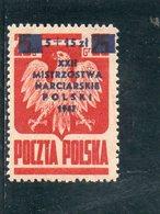 POLOGNE 1947 * - Nuevos