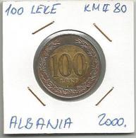 G1 Albania 100 Leke 2000. KM#80 - Albanie