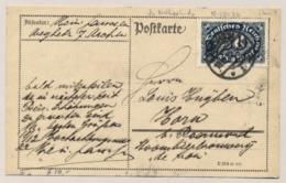 Deutsches Reich - 1922 - 50 M On Postkarte From Aachen To Horn / Nederland - Germany