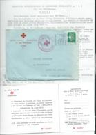 """Lac Avec Entete """"croix Rouge Française 25 Rue Bretonneau Tours , Collecte De Sang , Oblitéré 21/07/1972  LX1501 - Rode Kruis"""