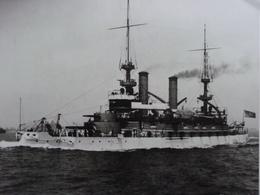 Rare!  Belle Grande Photo Ancienne Cuirassé Kearsange Tampon à L'arriere Militaria Navire - Guerre, Militaire