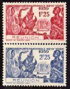 Réunion N° 156 / 57 XX Exposition Internationale De New York: Les 2 Valeurs Sans Charnière, TB - Ungebraucht
