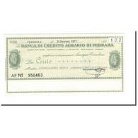 Billet, Italie, 100 Lire, 1977, 1977-01-03, NEUF - [10] Chèques