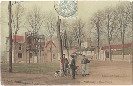 Dépt 77 - VILLENOY - Place Picard - Édition Artistique Duquesnay N° 13 (colorisée) - Env. De Meaux - Portique Pompiers - Villenoy