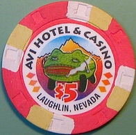 $5 Casino Chip. Avi, Laughlin, NV. N08. - Casino