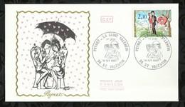 PEYNET . LA SAINT VALENTIN . 14 FEVRIER 1985 . SAINT VALENTIN . - FDC