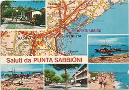 V3438 Saluti Da Punta Sabbioni (Venezia) - Carta Geografica Map Carte Geographique / Non Viaggiata - Carte Geografiche