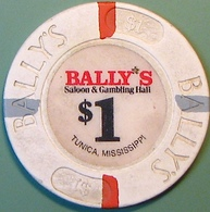 $1 Casino Chip. Bally's, Tunica, MS. N08. - Casino