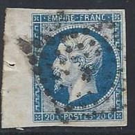 20 C. Bord De Feuille Superbe - 1853-1860 Napoléon III