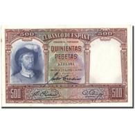 Billet, Espagne, 500 Pesetas, 1931, 1931-04-25, KM:84, TTB - [ 1] …-1931 : Prime Banconote (Banco De España)