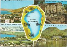 V3439 Sea Of Galilee - Carta Geografica Map Carte Geographique / Non Viaggiata - Carte Geografiche