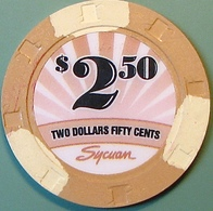 $2.50 Casino Chip. Sycuan, El Cajon, CA. N08. - Casino