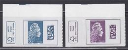 = Marianne L'Engagée 2018 Coin Haut Gauche De Feuille Monde N°1604 Et Europe N°1603 Neuf Type Adhésif Avec Logo Eco - 2018-... Marianne L'Engagée