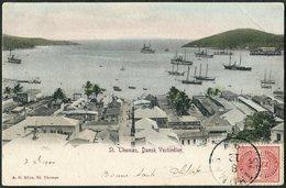 DWI Dansk Vestindien 1904 St. Thomas Danish West Indies Postcard PPC Antilles Danoises Dänisch-Westindien Virgin Islands - Denmark (West Indies)