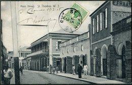 DWI Dansk Vestindien 1908 St. Thomas Danish West Indies Postcard PPC Antilles Danoises Dänisch-Westindien Virgin Islands - Denmark (West Indies)