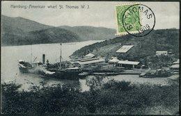 DWI Dansk Vestindien 1909 St. Thomas Danish West Indies Postcard PPC Antilles Danoises Dänisch-Westindien Virgin Islands - Denmark (West Indies)