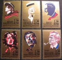 PTT/604 - 1990 - ARTISTES DE LA CHANSON - N°2649 à 2654 NEUFS** (SERIE COMPLETE) - France