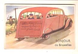 BONJOUR DE BRUXELLES  - Carte Système. - Panoramische Zichten, Meerdere Zichten