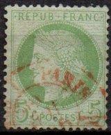 FRANCE - Cachet à Date Rouge Des Imprimés - 1871-1875 Ceres