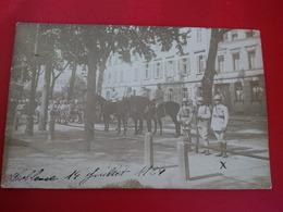 CARTE PHOTO COBLENCE KOBLENZ SOLDAT MILITAIRE 14 JUILLET 1924 - Koblenz