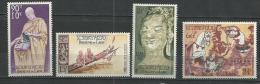 """Laos Aerien YT 27 à 30 (PA) """" Culte Du Bouddah """" 1957 Neuf** - Laos"""