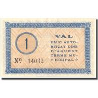 Billet, Espagne, 1 Peseta, GIRONELLA, 1937, SUP+ - Espagne