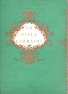 "Carte Avec Menu ( +/- 1975 )  Restaurant "" La Villa Lorraine "" à BRUXELLES (b242) - Menus"