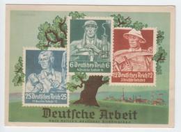 Olympiapostwertzeichen Ausstellung 1936 , Farbige Postkarte - Deutschland