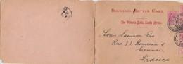 SOUVENIR LETTER CARD THE VICTORIA FALLS SOUTH AFRICA. CAPE-TOWN TO FRANCE. 15 11 1905 - Non Classés