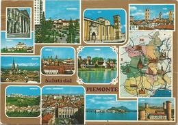 V3446 Saluti Dal Piemonte - Carta Geografica Map Carte Geographique / Viaggiata - Carte Geografiche