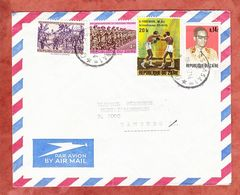 Luftpost, MiF Box-WM U.a., Kinshasa Nach Hamburg 1977 (61722) - Zaire