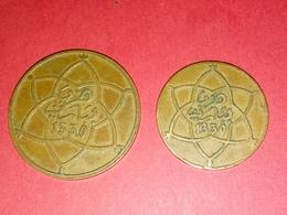 ANCIENNE MONNAIE TTB 10 Et 5 Centimes 2 Pieces De Monnaies MAROC Cuivre 1330  TTB - Tunisie