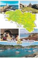 CARTES GÉOGRAPHIQUES - LA BRETAGNE - - BREIZH & BRETAGNE - 5 PETITES VUES - CPM - VIERGE - - Cartes Géographiques