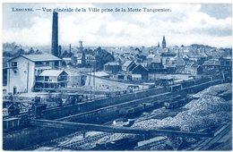 Lessines. Vue Générale De La Ville Prise De La Motte Tacquenier. Lessen. Algemeen Zicht Van De Stad. Wagons. Wagens. - Lessines