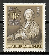 Austria 1987 / Music Composer Christoph Willibald Gluck MNH Musica Muzik  / Kb13  1 - Música