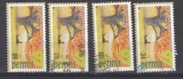 PERMIS DE CHASSE  1997 - VIGNETTES SANS VALEUR FISCALE  - FEDERATIONS DIVERSES - HUNTING CINDERELLAS - Fantasie Vignetten