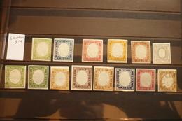 Italie Collection  Sardaigne Nuances N°10/16 Majorité Neufs * - Papal States