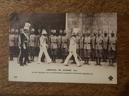 Croquis De Guerre 1915 - Le Roi George V Et Lord Kitchener Inspectent L'Infanterie égyptienne - War 1914-18