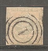 Yv. DK  N°  6  (o)  16s Gris-violet   Cote  275 Euro D  R 2 Scans - 1851-63 (Frederik VII)