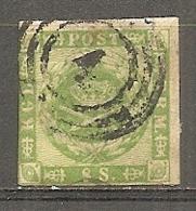 Yv. DK  N°  9   (o)  8s Vert  Cote  150 Euro BE R 2 Scans - 1851-63 (Frederik VII)