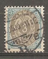 Yv. DK  N°  22 (A) Dent 12 1/2   (o)  3o Bleu Et Gris  Cote  3 Euro BE  2 Scans - 1864-04 (Christian IX)