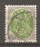 Yv. DK  N°  27 (A) Dent  12 1/2   (o)  25o   Cote  5,5 Euro BE  2 Scans - 1864-04 (Christian IX)
