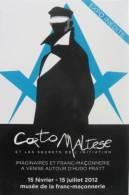 Corto Maltese -  Exposition Temporaire  Hugo Pratt  - Franc Maçonnerie  Paris - Freemason Collection - Philosophie & Pensées