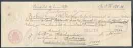 Traite établie à Bruxelles Le 19 Juin 1872 Pour Une Somme De 174fr50 Pour Mr. De Blochausen à Bitrange Avec Cachet Timbr - Fiscaux
