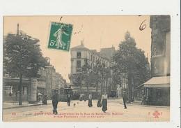 TOUT PARIS 19 EME CARREFOUR DE LA RUE DE BELLEVILLE BOLIVAR ET DES PYRENEES CPA BON ETAT - Arrondissement: 19