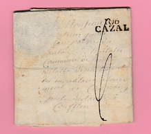 Dép.4  Départements Conquis 106 CAZAL  9.12. 1813 - Marcofilie (Brieven)