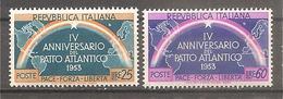 Italia - Serie Completa Nuova: 4° Anniversario Del Patto Atlantico - 1953 * G - 6. 1946-.. Republic
