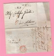 Dép.4  Départements Conquis L-sans Texte. 107 Verceil + L.R.1 Verso= Milano Feb. 18 - Marcofilie (Brieven)