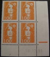 PTT/617 - 1990 - MARIANNE DU BICENTENAIRE - BLOC N°2620 NEUFS** CdF Daté - 1990-1999