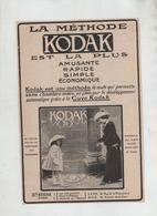 Publicité 1913 La Méthode Kodak Cuve Paris - Publicités